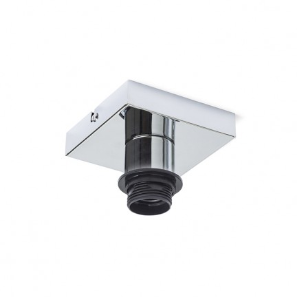 RENDL shades and accessories, bases, pendent sets SOLO SQ ceiling base chrome 230V E27 53W R12584 1