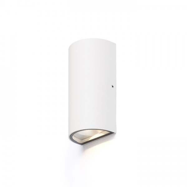 RENDL luminaria de exterior MIDZACK de pared blanco 230V LED 2x3W IP54 3000K R12585 1