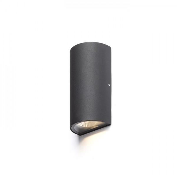 MIDZACK nástenná čierna  230V LED 2x3W IP54  3000K