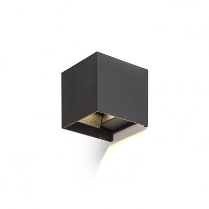 RENDL outdoor lamp TITO SQ wall black 230V LED 6W IP54 3000K R12602 1