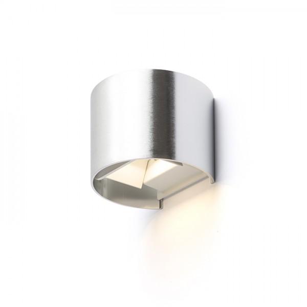RENDL luminaria de exterior TITO R de pared aluminio cepillado 230V LED 6W IP54 3000K R12604 1