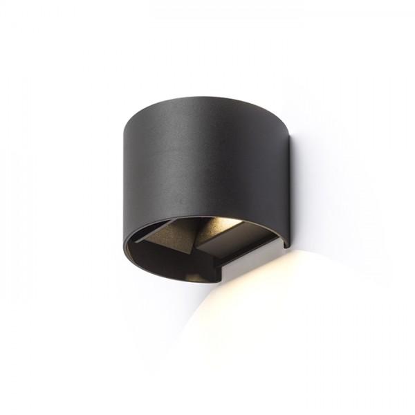 TITO R nástenná čierna  230V LED 6W IP54  3000K