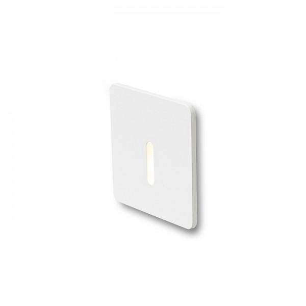 RENDL upotettava valaisin IRIA SQ upotettava valkoinen 230V LED 1W 10° 3000K R12612 1