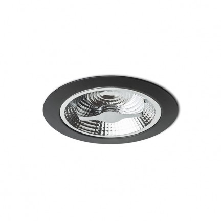 RENDL recessed light KELLY LED DIMM recessed black 230V LED 15W 45° 3000K R12636 1
