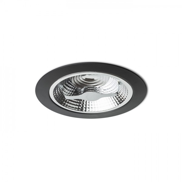 RENDL verzonken lamp KELLY LED DIMM inbouwlamp zwart 230V LED 15W 45° 3000K R12636 1