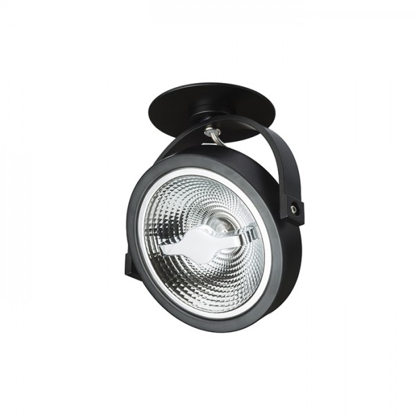 RENDL spotlight KELLY LED DIMM delvist indbygget sort 230V LED 12W 24° 3000K R12638 1