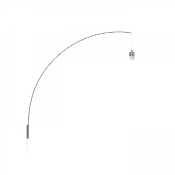 RENDL Lampenschirm BEND Bogenförmige Wandbasis Mattnickel 230V E27 42W R12654 1