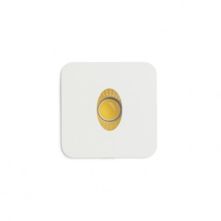 RENDL recessed light RIO SQ O recessed white 230V LED 3W 22° 3000K R12655 1