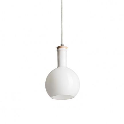 RENDL Hängeleuchte PULIRE RD Pendelleuchte Opalglas/Holz/Chrom 230V E14 28W R12664 1