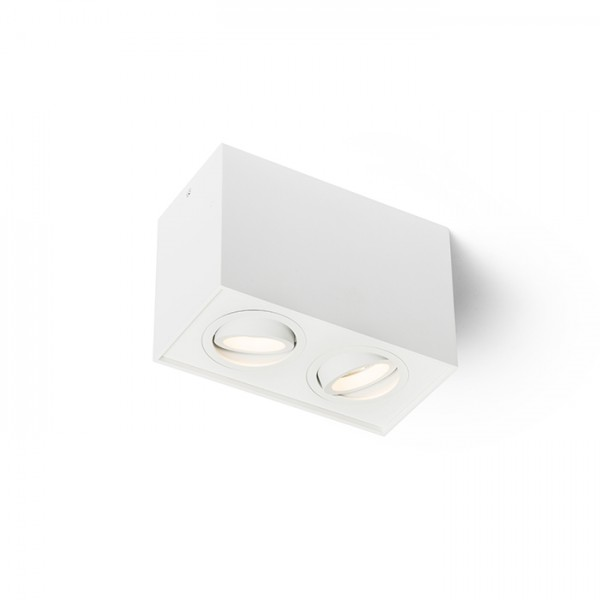 RENDL surface mounted lamp ENKI EDG II white 230V GU10 2x35W R12673 1