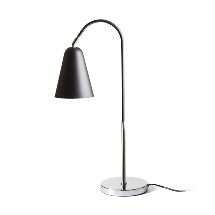 RENDL table lamp GARBO table black chrome 230V E27 28W R12675 1