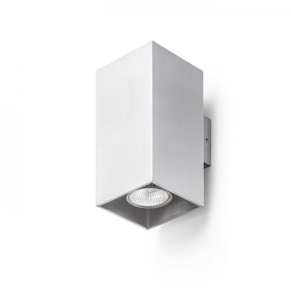 RENDL Zidna svjetiljka AGATE II zidna brušeni aluminij 230V GU10 2x35W R12678 1