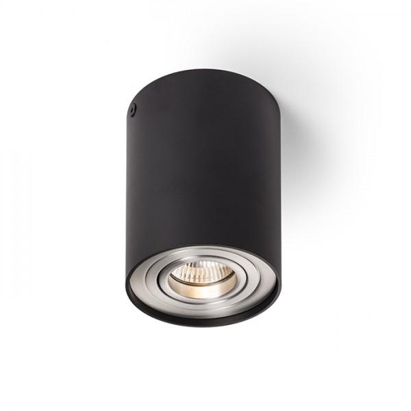 MILANO I stropná matná čierna česaný hliník 230V GU10 35W