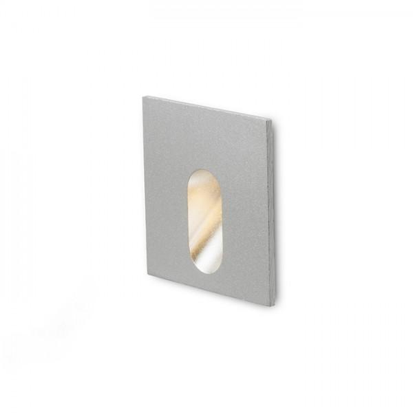RENDL verzonken lamp MEMPHIS SQ inbouwlamp (muur zilvergrijs 230V LED 3W 60° 3000K R12688 1