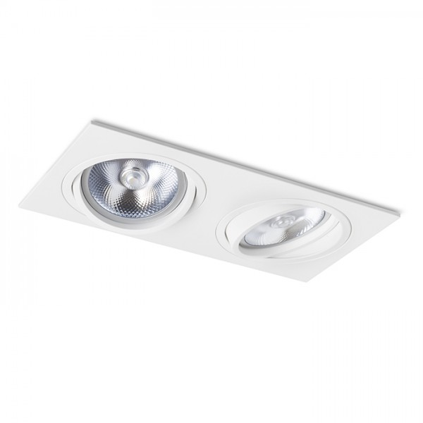 RENDL recessed light PASADENA G53 SQ II white 12V G53 2x50W R12703 1