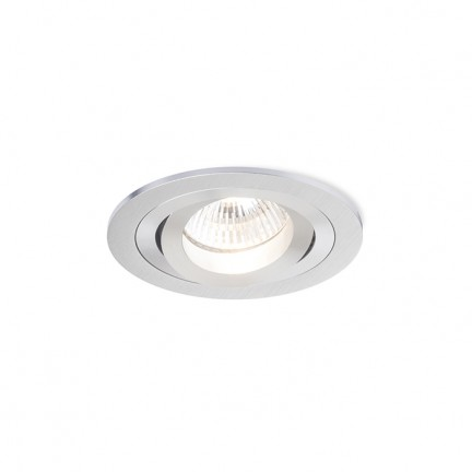RENDL verzonken lamp PASADENA GU10 R inbouwlamp Geborsteld Aluminium 230V GU10 50W R12708 1