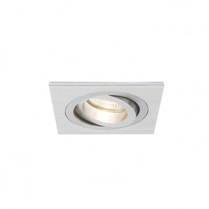 RENDL verzonken lamp PASADENA GU10 SQ I inbouwlamp Geborsteld Aluminium 230V GU10 50W R12709 1