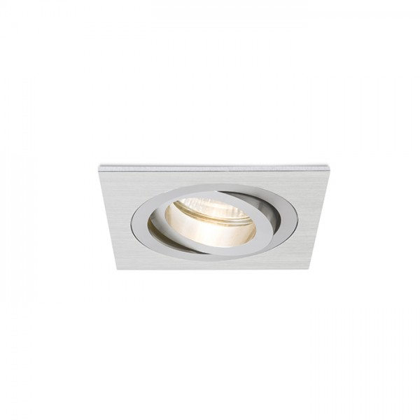 RENDL recessed light PASADENA GU10 SQ I recessed brushed aluminum 230V GU10 50W R12709 1