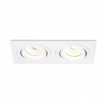 RENDL verzonken lamp PASADENA GU10 SQ II inbouwlamp wit 230V GU10 2x50W R12713 1