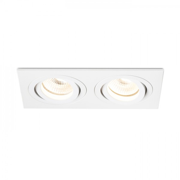 RENDL ugradno svjetlo PASADENA GU10 SQ II ugradna bijela 230V GU10 2x50W R12713 1