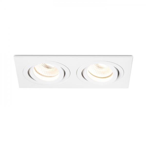 RENDL luz empotrada PASADENA GU10 SQ II empotrada blanco 230V GU10 2x50W R12713 1