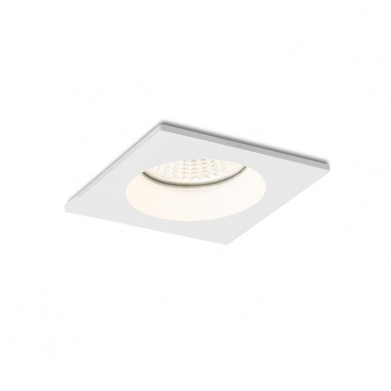 RENDL luz empotrada TOLEDO SQ blanco 230V LED 8W 60° IP44 3000K R12717 1