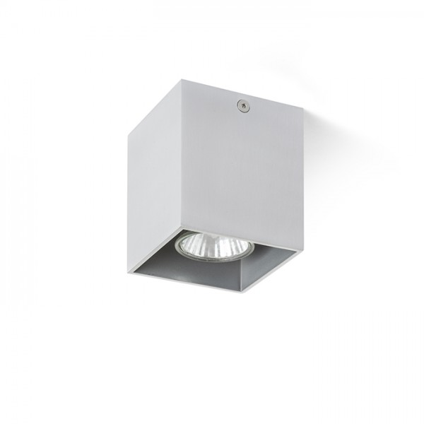 RENDL overflademonteret lampe AGATE I loft børstet aluminium 230V GU10 35W R12736 1