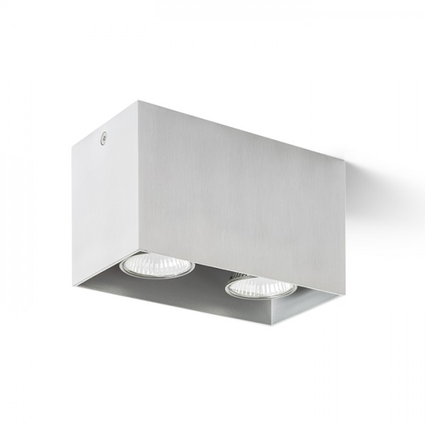 RENDL surface mounted lamp AGATE II ceiling brushed aluminum 230V GU10 2x35W R12738 1