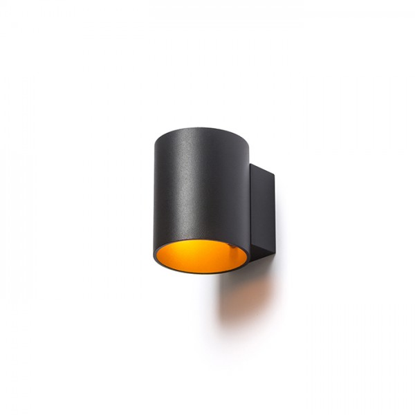 RENDL wall lamp TUBA W wall matt black/gold 230V G9 33W R12740 1