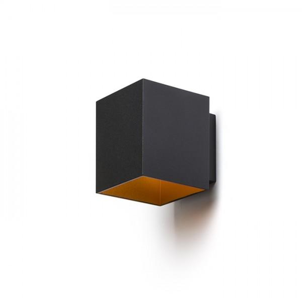 TRIP SQ nástenná matná čierna/zlatá  230V G9 33W