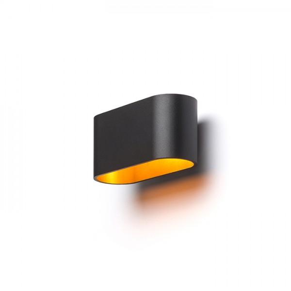 MARIO  matná čierna/zlatá  230V G9 33W