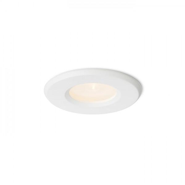 RENDL luminaire plafond APRIORI blanc verre satiné 230V GU10 35W IP54 R12747 1