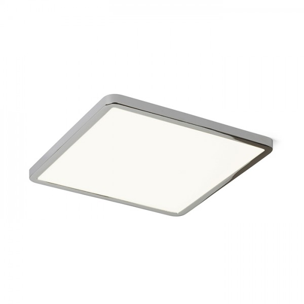 RENDL verzonken lamp HUE SQ 22 inbouwlamp Zwart chroom 230V LED 24W 3000K R12786 1