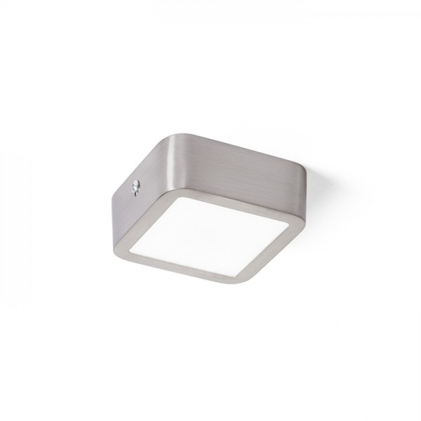 RENDL surface mounted lamp HUE SQ 9 ceiling matt nickel 230V LED 6W 3000K R12808 1
