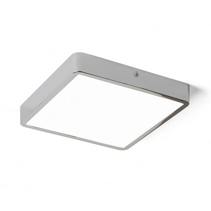 RENDL luminaire encastrable HUE SQ 22 plafond chrome noir 230V LED 24W 3000K R12816 1