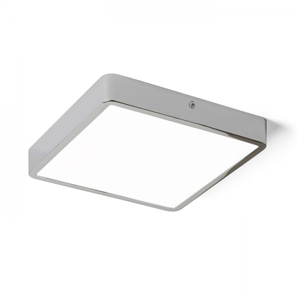 RENDL surface mounted lamp HUE SQ 22 ceiling black chrome 230V LED 24W 3000K R12816 1