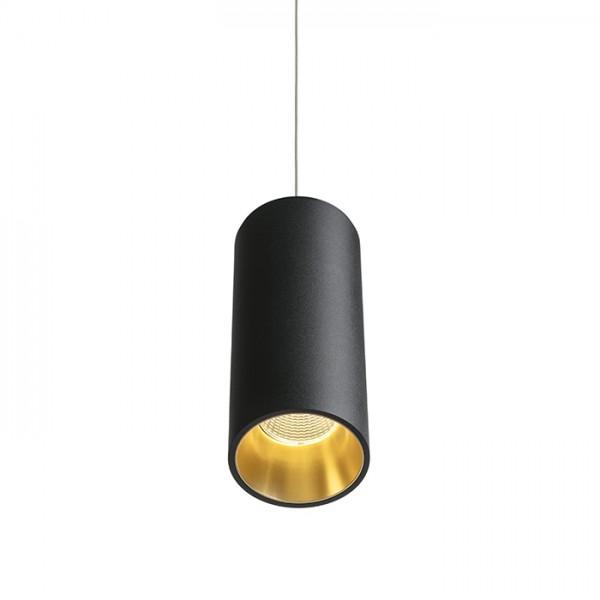 RENDL suspension PEDRO suspension noir/jaune or 230V LED 25W 30° 3000K R12821 1