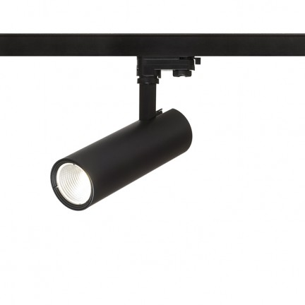 RENDL LED-bånd og systemer BAHIA for 3-faset skinne sort 230V LED 28W 38° 3000K R12824 1