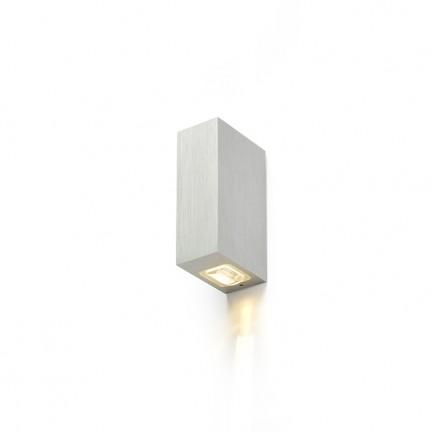 RENDL buiten lamp NICK II wandlamp Geborsteld Aluminium 230V LED 2x3W 10° IP54 3000K R12827 1