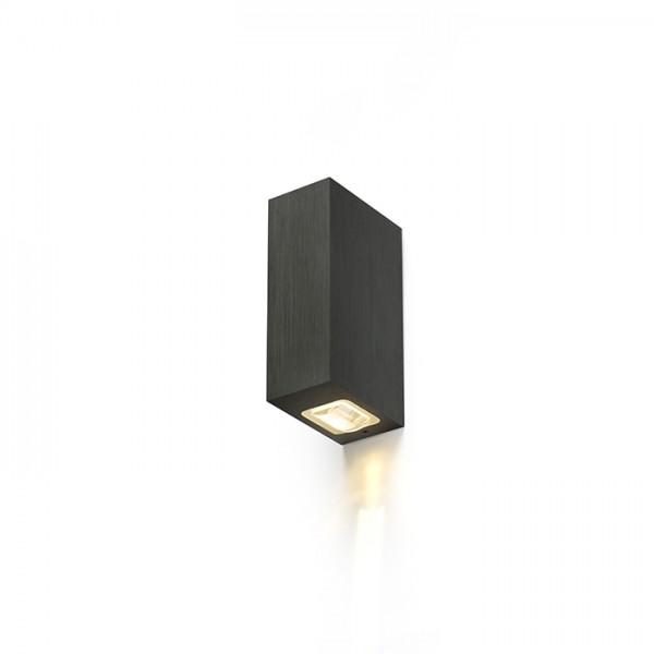 NICK II nástenná  čierny elox 230V LED 2x3W 10° IP54  3000K