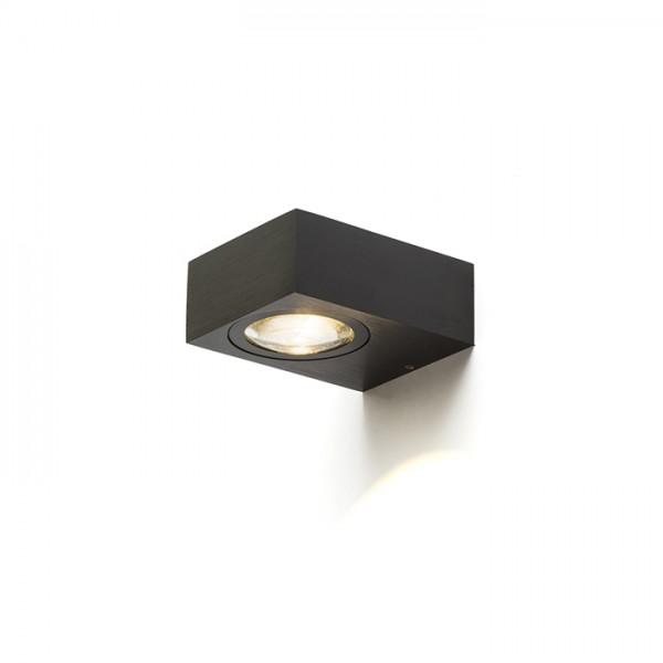 KORSO I nástenná  čierny elox 230V LED 5W 120° IP54  3000K