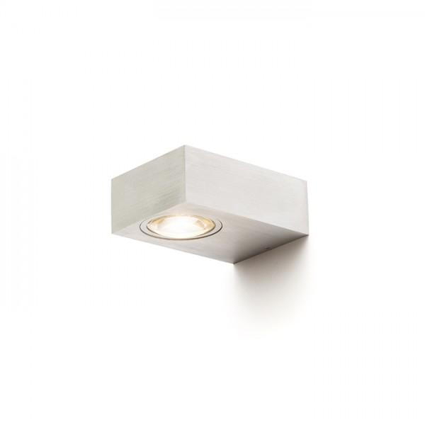 RENDL outdoor lamp KORSO II wall brushed aluminum 230V LED 2x3W 120° IP54 3000K R12831 1