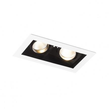 RENDL vestavné světlo BONDY II zápustná bílá 230V LED 2x7W 24° 3000K R12857 1