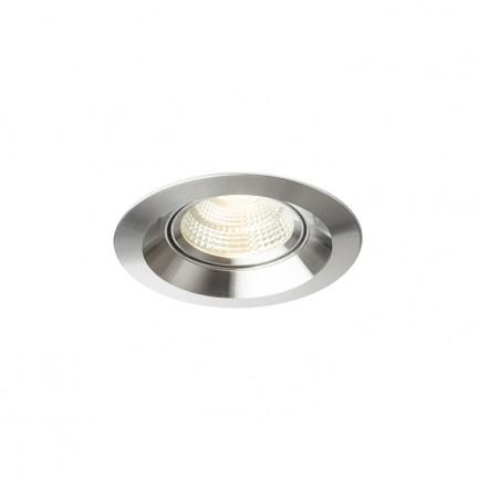 RENDL mennyezeti lámpa SPARKLE süllyesztett lámpa csiszolt alumínium 230V LED 5W 24° 3000K R12861 1