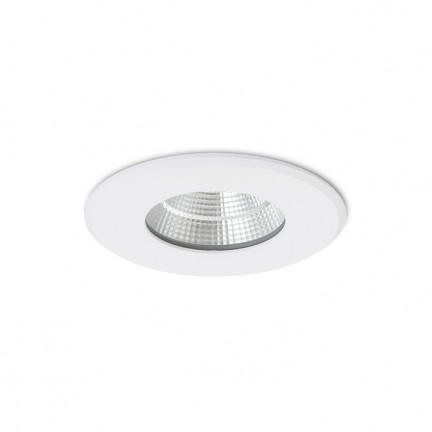 RENDL recessed light AZTECA matt white 230V LED 9.3W 48° IP44 3000K R12910 1