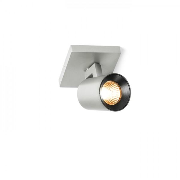 RENDL spotlight KENNY I surface mounted brushed aluminum/black 230V GU10 35W R12913 1