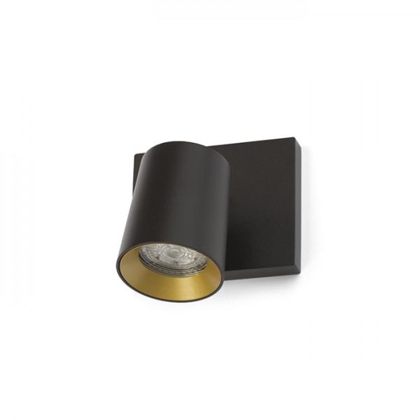 KENNY I prisadená čierna/zlatá  230V GU10 35W