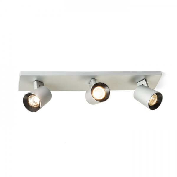 RENDL spotlight KENNY III surface mounted brushed aluminium/black 230V GU10 3x35W R12919 1