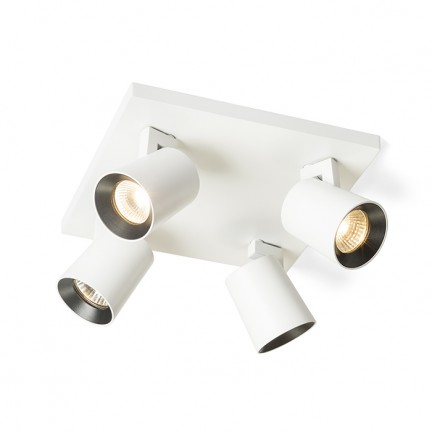RENDL spotlight KENNY IV ceiling white/black 230V GU10 4x35W R12921 1