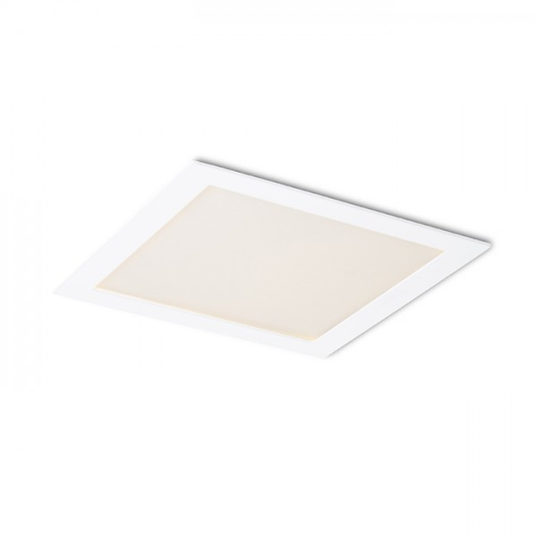 RENDL verzonken lamp SOCORRO SQ 225 inbouwlamp wit 230V LED 18W 3000K R12969 1